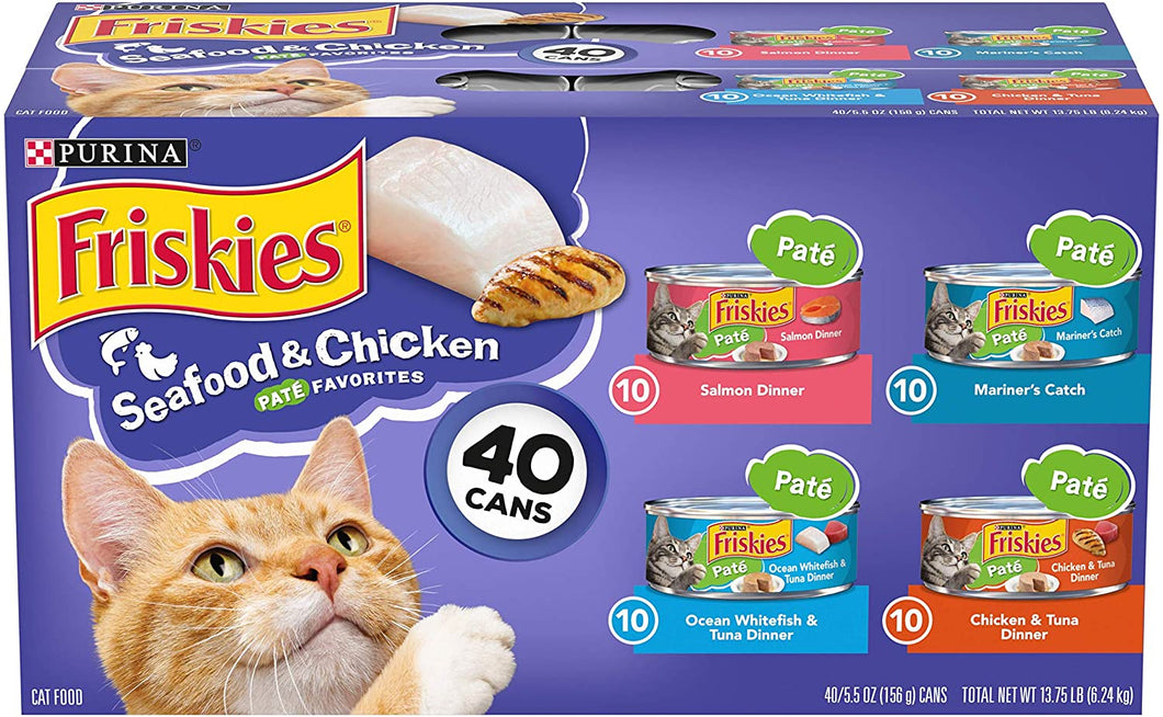 Variety of wet cat food