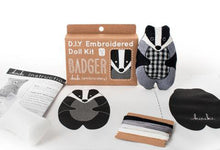 Load image into Gallery viewer, Kiriki Press - DIY Embroidered Doll Kit  (Badger - Level 3)