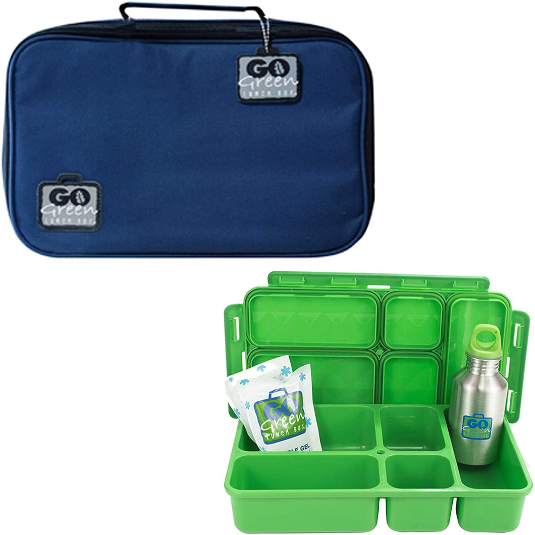 Go Green Lunch Box Set - Blue Bomber