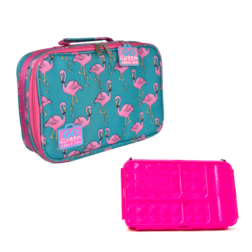 Go Green Lunch Box Set - Flamingo