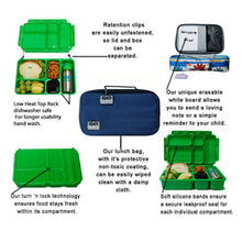 Load image into Gallery viewer, Go Green Lunch Box Set - Blue Bomber