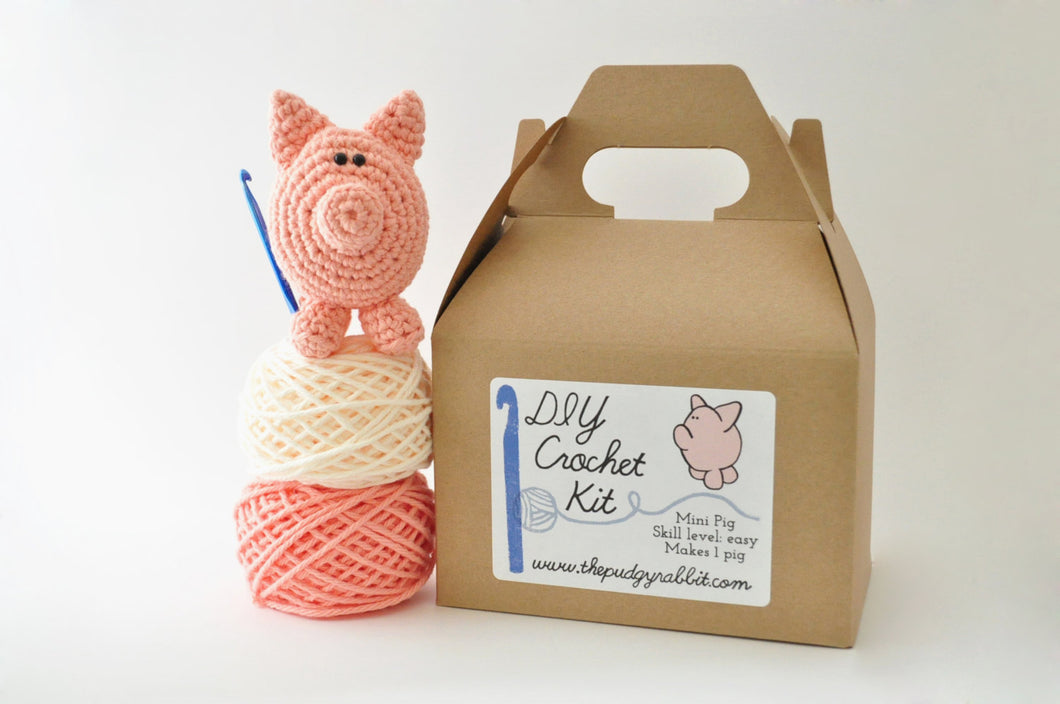 DIY Beginner Crochet Kit - Pig