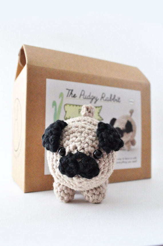 DIY Beginner Crochet Kit - Pug