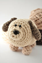 Load image into Gallery viewer, DIY Beginner Crochet Kit - Tan Dog