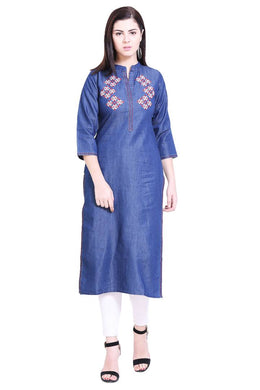 Women's Stitched Denim Kurtis