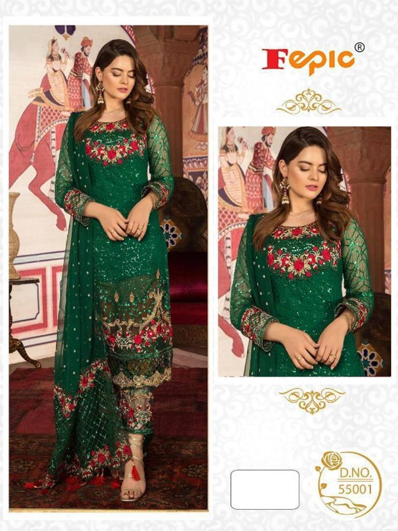 Latest Pakistani Attractive Georgette Dress Material With Dupatta