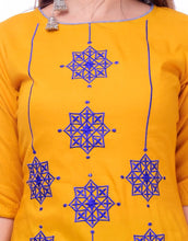 Load image into Gallery viewer, Stunning Yellow Rayon Embroidered High-low Kurta For Women