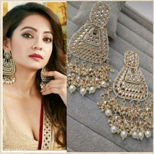 Heavy kundan Paachi earrings