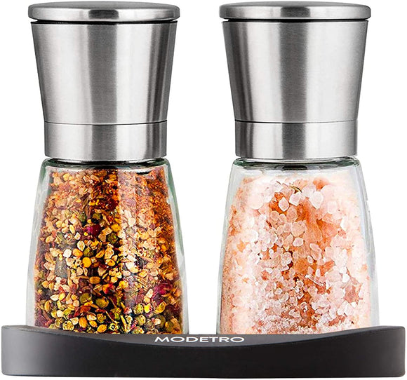 Modetro Salt and Pepper Shakers with Silicon Stand (2 pcs)