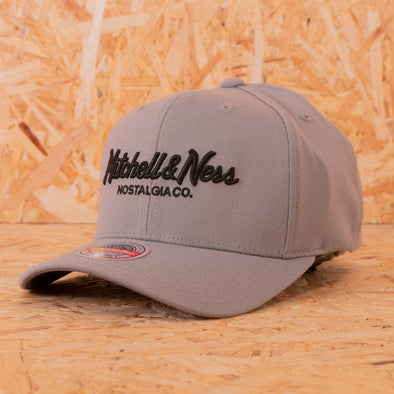 Mitchell & Ness Branded Pinscript Snapback Charcoal