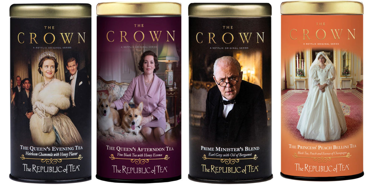 The Crown Tea Tins 4 in a row queen of hearts tea house and gift shop kitchener ontario canada