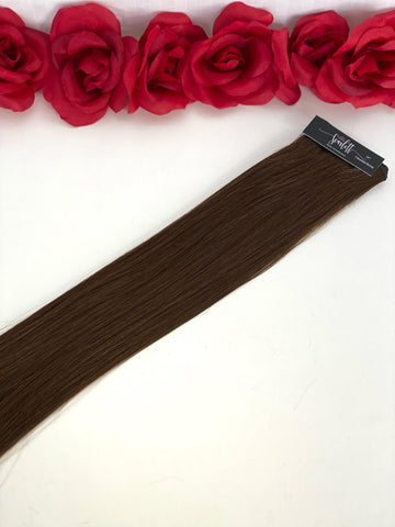 Chocolate Brown Hand Tied Weft - Scarlett Hair Extensions