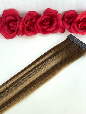 Chocolate & Honey Hand Tied Weft - Scarlett Hair Extensions