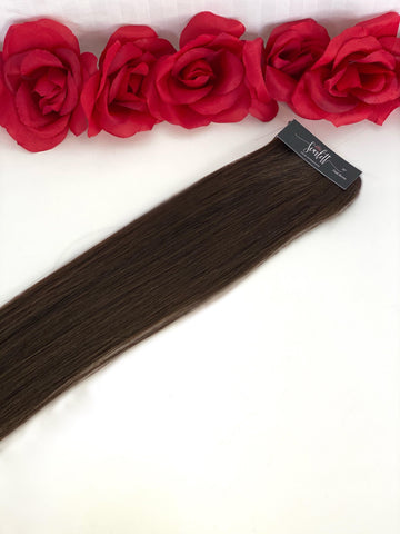 Dark Brown Hand Tied Weft - Scarlett Hair Extensions