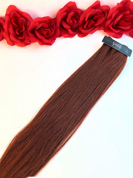 Scarlet Red Hand Tied Weft - Scarlett Hair Extensions