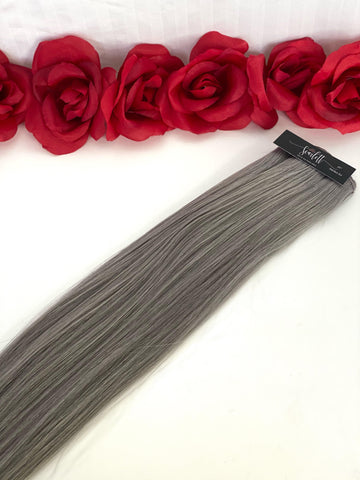 Smokey Ice Hand Tied Weft - Scarlett Hair Extensions