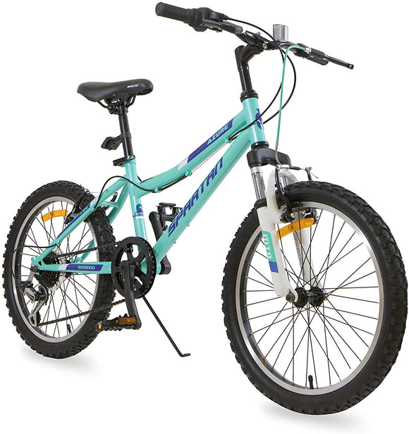 SPARTAN 20 inch Azure MTB Bicycle - Light Blue & Black, Speed 20