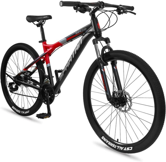 Spartan Ampezzo Men's MTB Mountain Alloy Bicycle 27.5 inch  (Red)