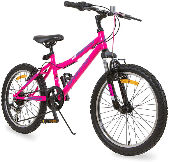 Spartan Bicycle - 20 inches Alpine MTB Bicycle Pink