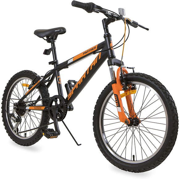 Spartan Bicycle Junior -  Panther MTB 20 inch Speed 20 Matte Black