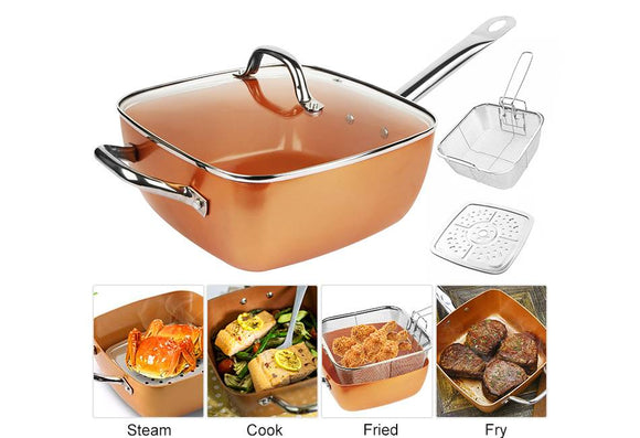 Copper Chef All-Purpose 4-Piece Deep Dish Pan Set