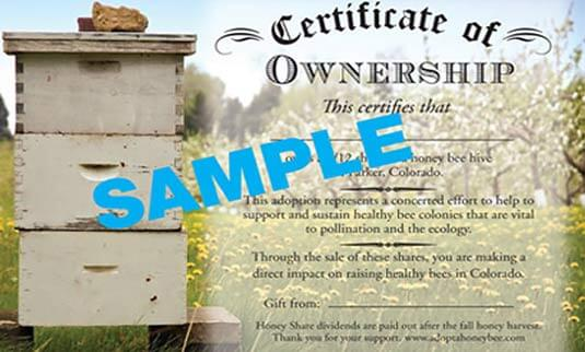 Adopt a Honey Bee Share - The Whole Hive