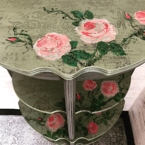 Iron Orchid Designs Painterly Florals Stamp on Table
