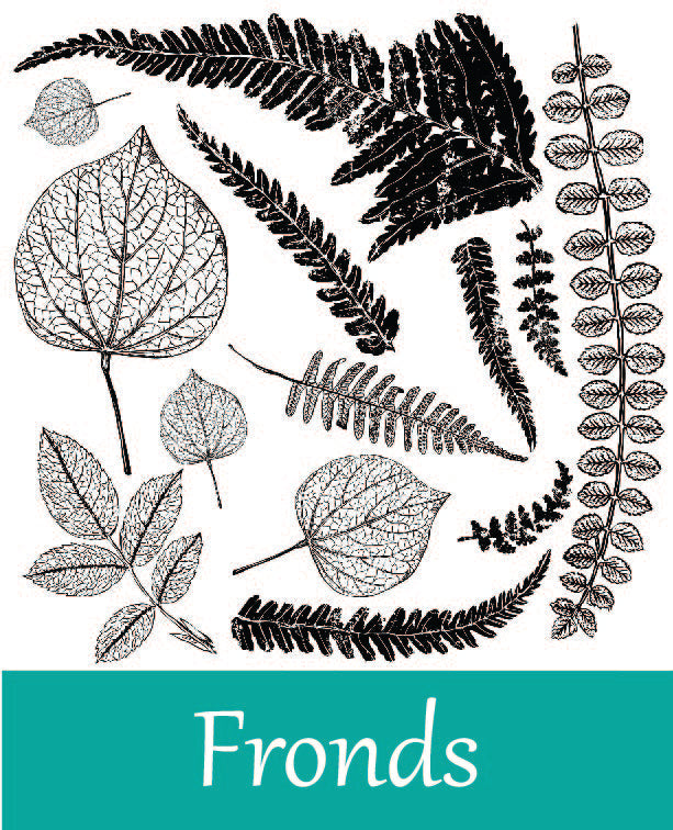 Fronds Stamp by Iron Orchid Designs
