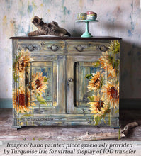 Load image into Gallery viewer, Painterly Florals Transfer by Iron Orchid Designs