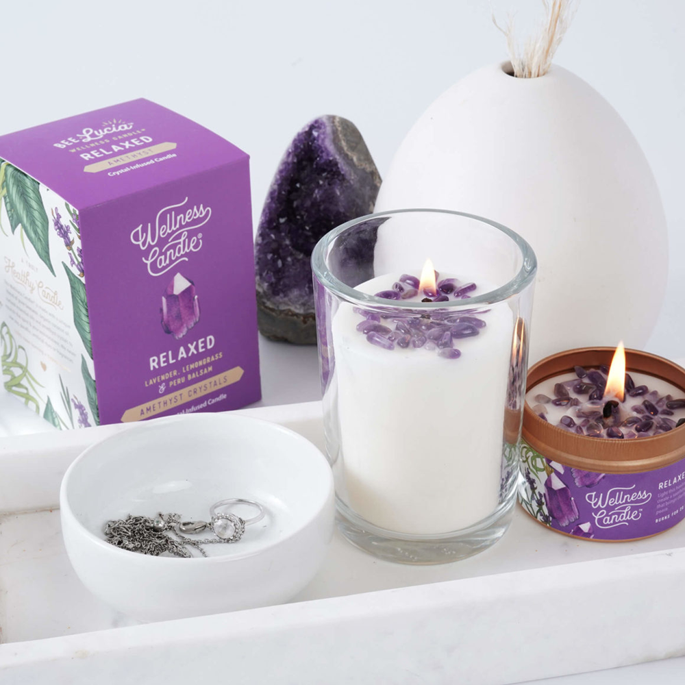 Crystal Infused Wellness Candle