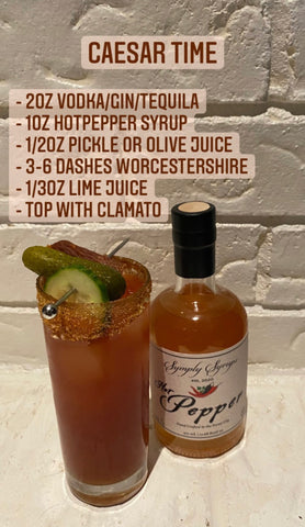 Caesar with Hot pepper Syrup