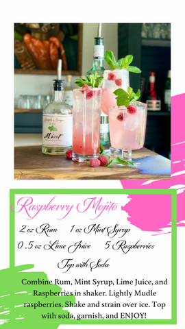 Raspberry Mojito, simple syrup, symply Syrups, cocktails