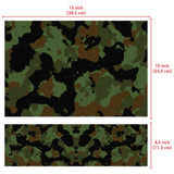FineArts Full Panel Laptop Skins Upto 15.6 inch for Dell-Lenovo-Acer-HP - Camo Black Green