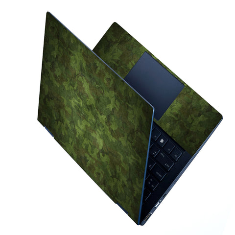 FineArts Full Panel Laptop Skins Upto 15.6 inch for Dell-Lenovo-Acer-HP - Camouflage Green Pattern