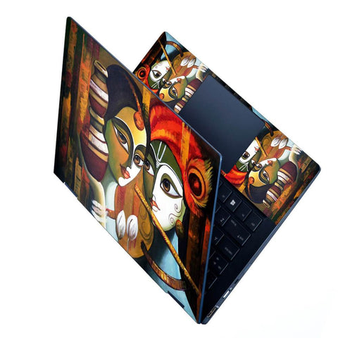 FineArts Full Panel Laptop Skins Upto 15.6 inch for Dell-Lenovo-Acer-HP - Radha Krishna Art