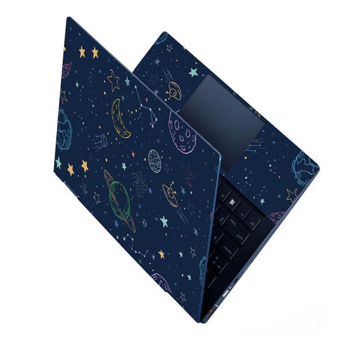 FineArts Full Panel Laptop Skins Upto 15.6 inch for Dell-Lenovo-Acer-HP - Space Pattern