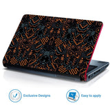 FineArts Full Panel Laptop Skins Upto 15.6 inch for Dell-Lenovo-Acer-HP - Spiral Abstract