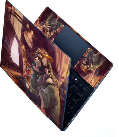 FineArts Full Panel Laptop Skins Upto 15.6 inch for Dell-Lenovo-Acer-HP - Chill Out Art