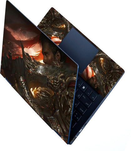 FineArts Full Panel Laptop Skins Upto 15.6 inch for Dell-Lenovo-Acer-HP - Epic Knight Sword Armored Warrior
