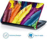 FineArts Full Panel Laptop Skins Upto 15.6 inch for Dell-Lenovo-Acer-HP - Multicolor Feather