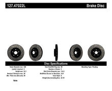 Load image into Gallery viewer, StopTech 05-10 Subaru Impreza WRX/STi Slotted & Drilled Left Front Rotor