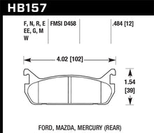 Load image into Gallery viewer, Hawk 91-96 Ford Escort / 90-93 Mazda Miata / 90-94 Protege / 91-96 Mer Tr DTC-30 Race Rear Brake Pad