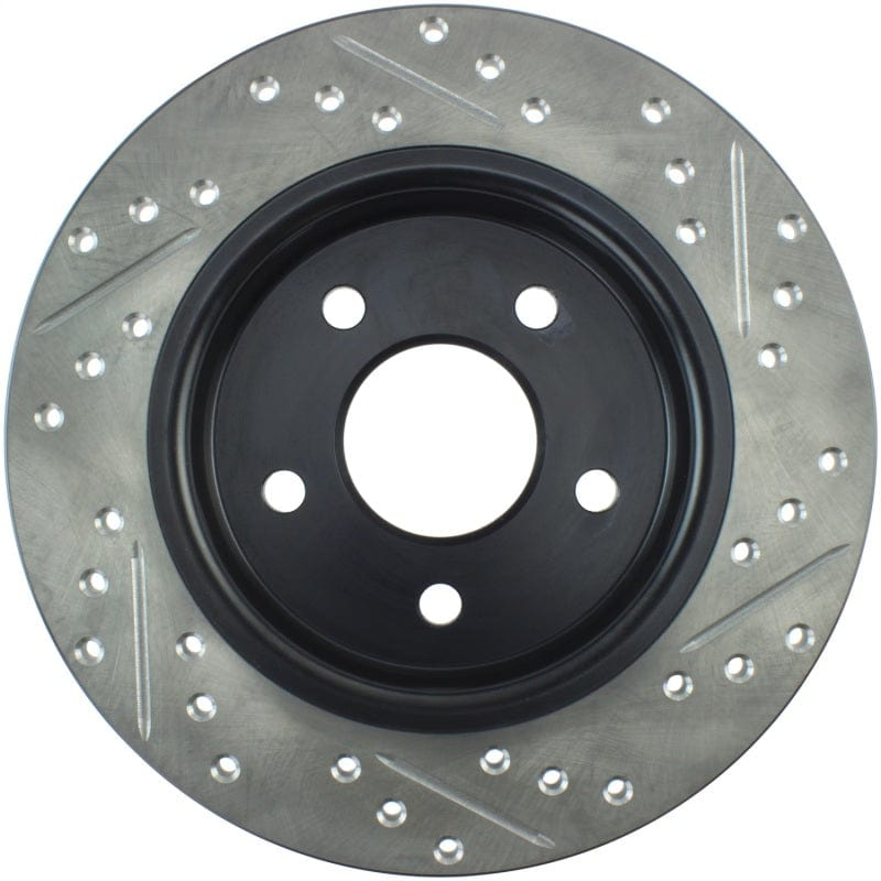 StopTech 12-15 Ford Focus w/ Rear Disc Brakes Rear Right Slotted & Drilled Rotor