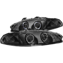 Load image into Gallery viewer, ANZO 1997-1999 Mitsubishi Eclipse Projector Headlights w/ Halo Black G2