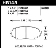 Load image into Gallery viewer, Hawk 89-93 Miata HPS Street Front Brake Pads (D525)