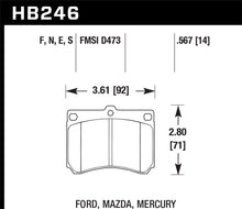 Load image into Gallery viewer, Hawk 90-98 Mazda Protege / 90-95 Mazda 323 HT-10 Race Front Brake Pads