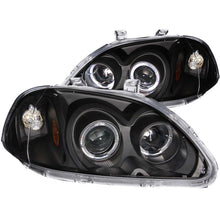 Load image into Gallery viewer, ANZO 1996-1998 Honda Civic Projector Headlights w/ Halo Black