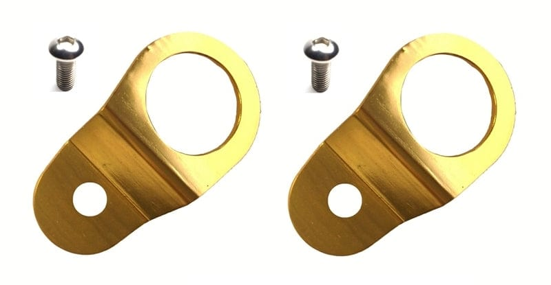 Torque Solution Radiator Mount Combo with Inserts (Gold) : Mitsubishi Evolution 7/8/9