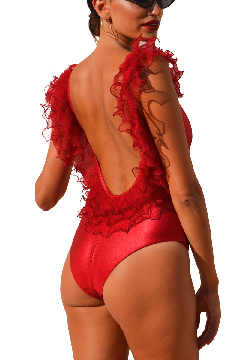 AMALFI LUXE ONE PIECE SWIMSUIT CHERRY RED
