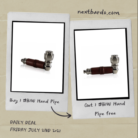 Friday July 2nd Daily Deal | Buy 1 get 1 free B1W Nickel Hand Pipe